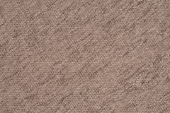 关闭米黄颜色一件毛织物品  库存图片