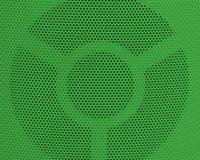关闭绿色金属栅格纹理背景 免版税库存照片