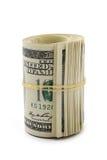 关闭美元卷 免版税库存照片