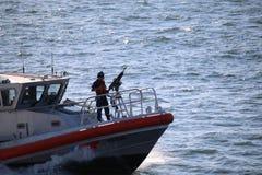 关闭美国海岸警卫 库存图片
