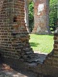 关闭老教会废墟 图库摄影