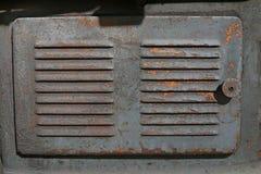 关闭老机器工厂制造钢和使用在pa 库存图片