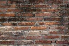 关闭老砖墙 免版税库存照片