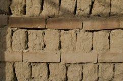关闭老被弄脏的砖 免版税库存照片