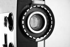 关闭老8mm电影放映机透镜 免版税库存图片
