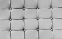 关闭背景的表面PVC皮革沙发 免版税库存照片