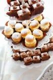 关闭自创甜蛋糕 图库摄影