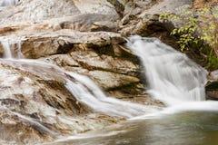 关闭自然瀑布 库存照片