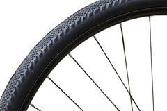 关闭自行车车轮 免版税库存照片