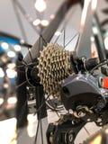 关闭自行车齿轮 图库摄影