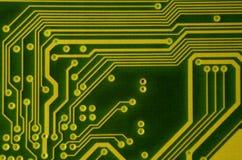 关闭色的微电路板 抽象背景技术 详细计算机机制 免版税图库摄影
