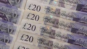 关闭英镑钞票 股票视频