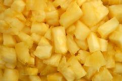 关闭菠萝大块 免版税库存图片