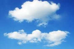 关闭蓝天看法与云彩的 免版税库存照片