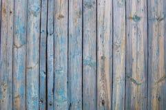 关闭蓝色木篱芭盘区 库存图片