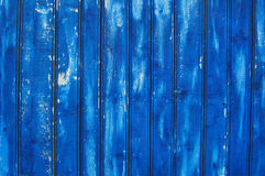 关闭蓝色木篱芭盘区 库存照片