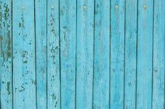 关闭蓝色木篱芭盘区 免版税库存图片