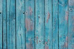 关闭蓝色木篱芭盘区 图库摄影