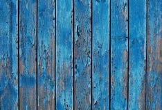 关闭蓝色木篱芭盘区 免版税库存照片