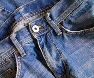 关闭蓝色牛仔裤 库存照片