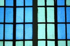 关闭蓝色玻璃窗 库存图片