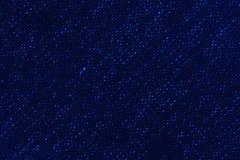 关闭蓝色颜色一件毛织物品  库存照片