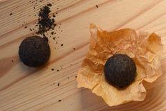 关闭被按的中国被发酵的Puerh茶 库存图片