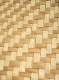 关闭被编织的竹样式 图库摄影