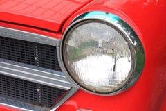 关闭车灯细节  免版税图库摄影