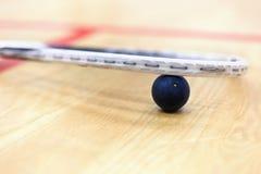 关闭软式墙网球和球 免版税图库摄影
