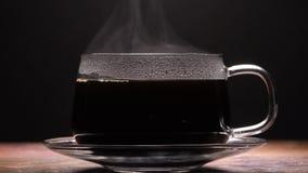 关闭通入蒸汽的咖啡杯 股票录像