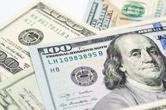 关闭金钱, $100张& $20张票据的图象 免版税图库摄影