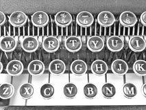 关闭锁上打字机  免版税库存照片