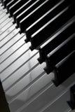 关闭锁上钢琴  图库摄影