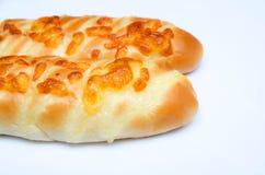 关闭长的面包 免版税库存照片