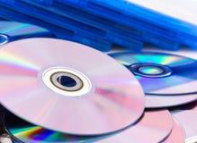关闭雷射唱片(CD/DVD) 免版税图库摄影