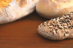 关闭面包的各种各样的类型 库存照片