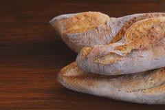 关闭面包的各种各样的类型 图库摄影