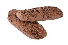 关闭面包的各种各样的类型 库存图片