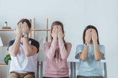 关闭面孔的年轻学生 库存照片