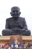 关闭面部细节佛教雕象 库存图片