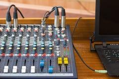 关闭音频控制台 免版税库存图片