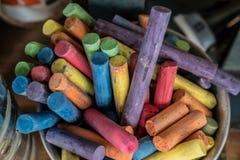 关闭颜色蜡笔,蜡笔,颜色,颜色背景 免版税图库摄影