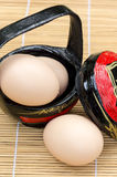 关闭鸡蛋 免版税库存照片
