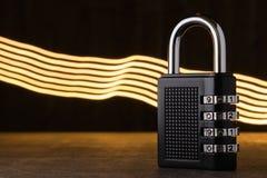 关闭,保护的概念 技术blockchain,网络通行的加密 密码保护 库存图片