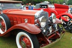 关闭经典汽车的时髦前期 免版税库存照片