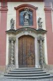 关闭从布拉格的历史建筑入口在捷克 免版税库存图片