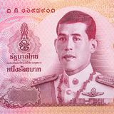 关闭100泰铢钞票 库存照片