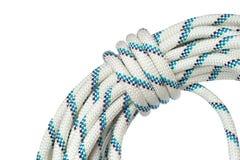 关闭绳索海岸线使用在speleo活动和运作的o 库存图片