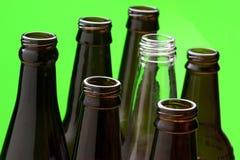 关闭玻璃瓶 免版税库存照片